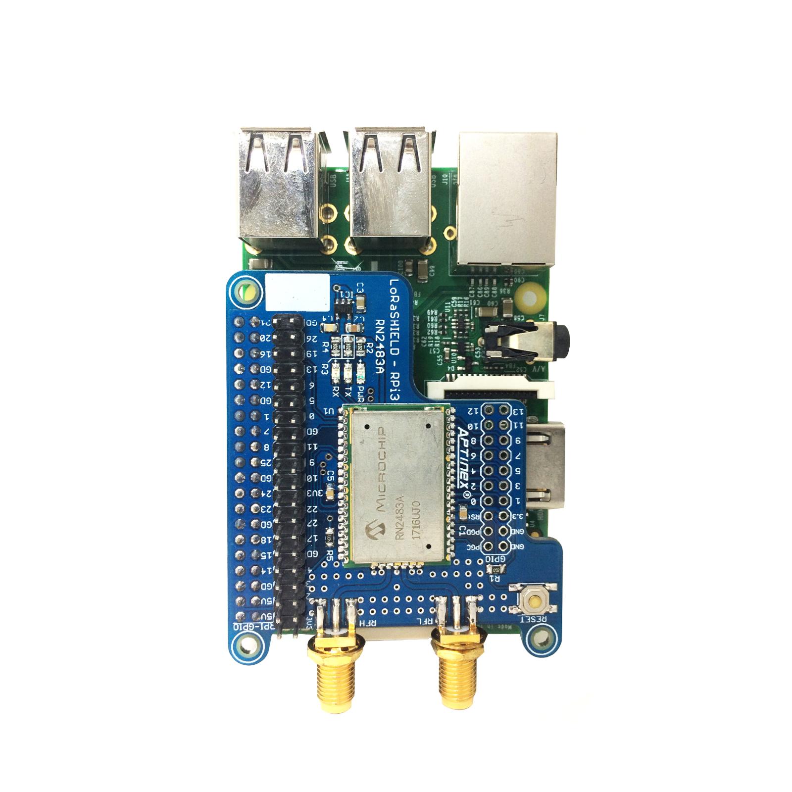 Aptinex RN2483A LoRaSHIELD for Raspberry Pi 3